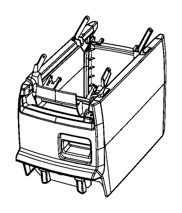 Dodge Grand Caravan Console. Center. [med slate gray/lt