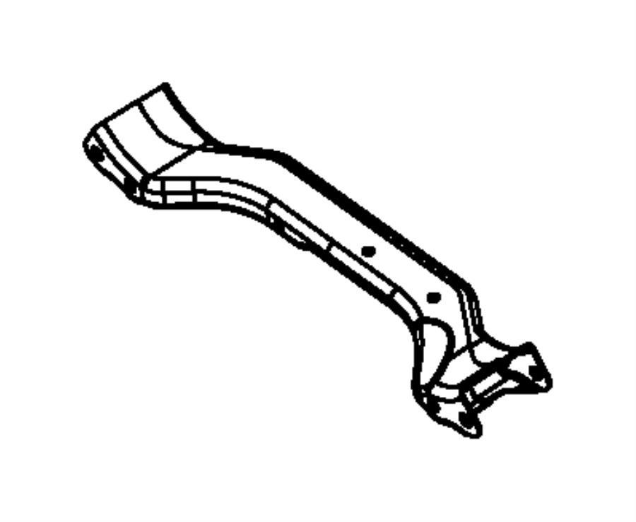 2007 Dodge Ram 1500 Crossmember. Control arm. Lower. [all
