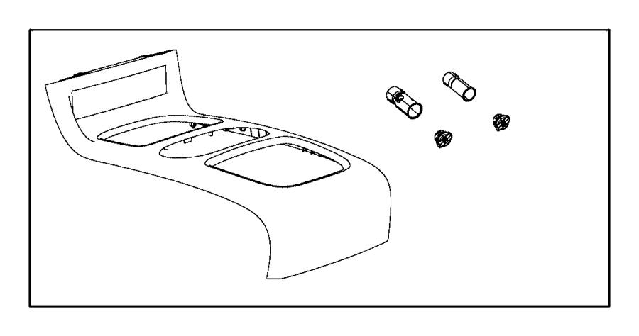 Dodge Grand Caravan Cupholder. Console. [black]. Trim