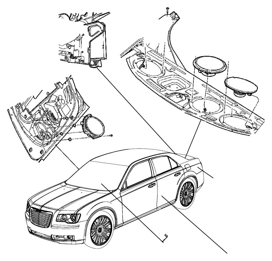 Dodge Charger Speaker. Sub woofer. Shelf panel. High, perf