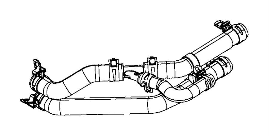 2019 Dodge Challenger Hose. Coolant. Cooling, ltr, system