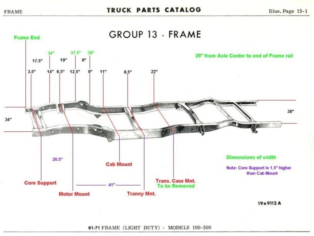medium resolution of 1961 1971 dodge truck frame dimensions dodgesweptline org technical references 1961 1971 dodge truck frame dimensions 85 chevy pickup wiring diagram
