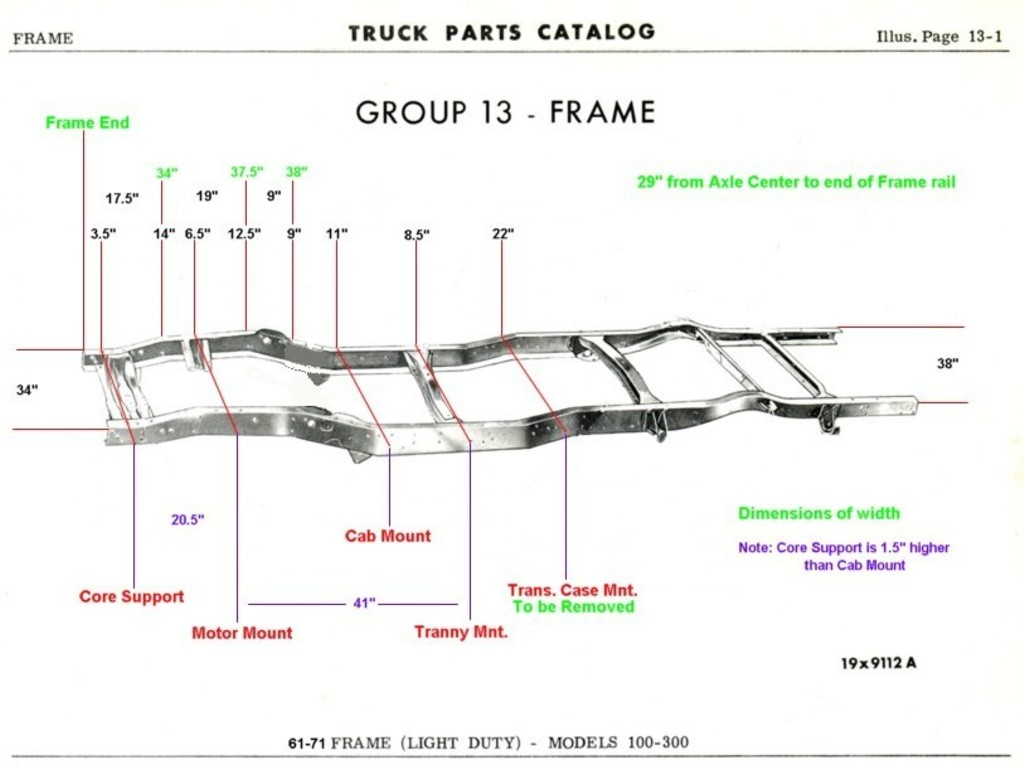 hight resolution of 1961 1971 dodge truck frame dimensions dodgesweptline org technical references 1961 1971 dodge truck frame dimensions 85 chevy pickup wiring diagram