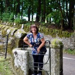 Cathy Swinging on the Gate