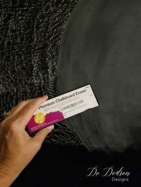 Priming a freshly painted chalkboard wall is necessary to prevent ghosting.
