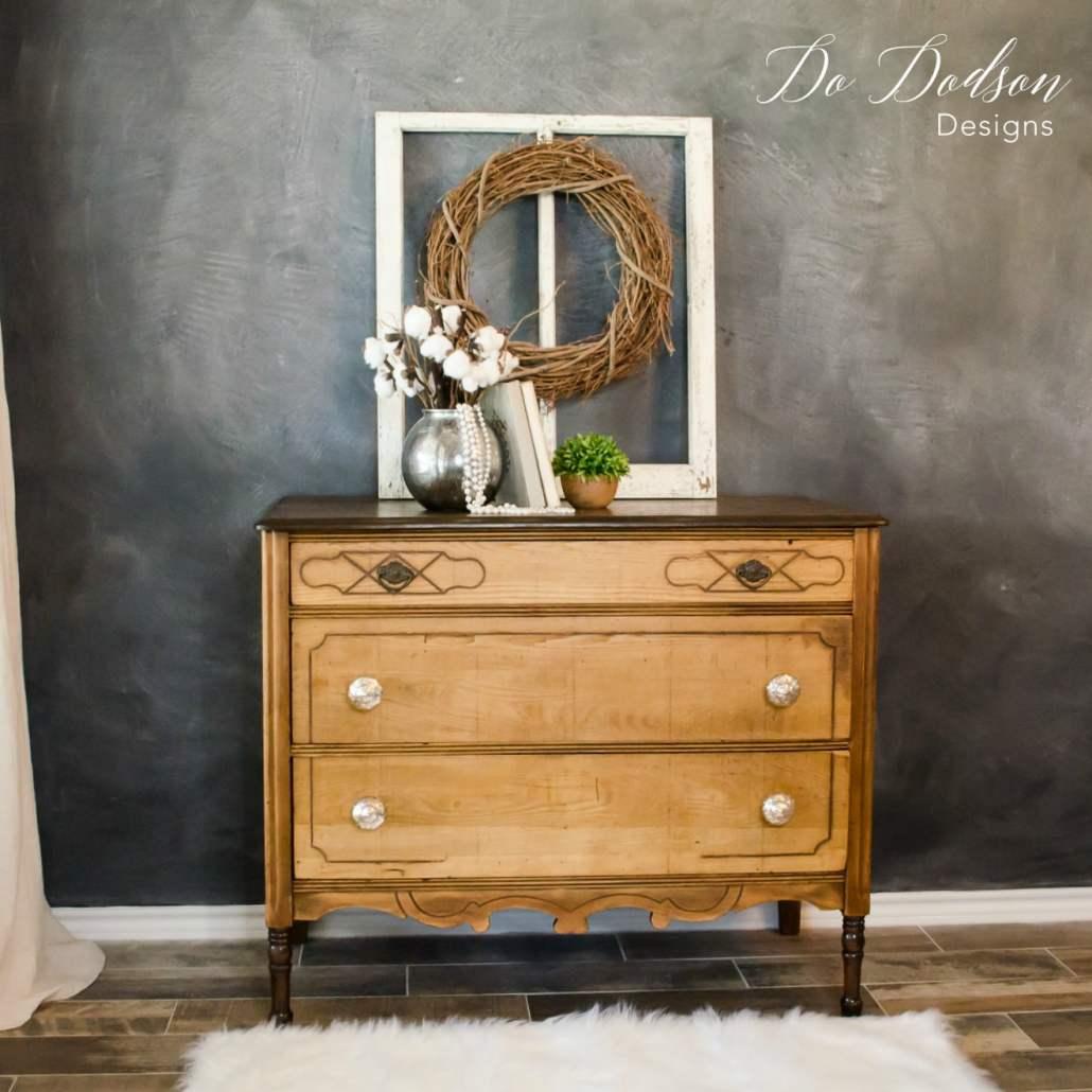 Look What Removing Veneer Did To This Wood Dresser #dododsondesigns #veneerdamage #veneerremoval #wooddresser