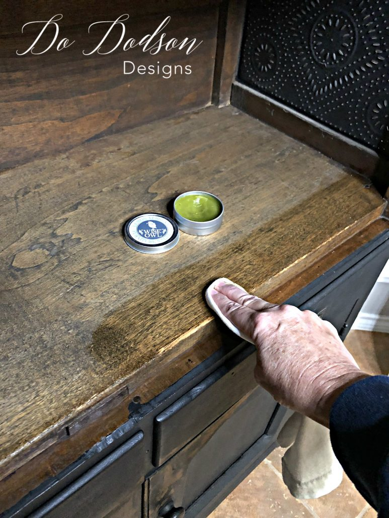 Why would you not makeover the inside of your furniture as well? Furniture salve revives old wood back to its beautiful state.