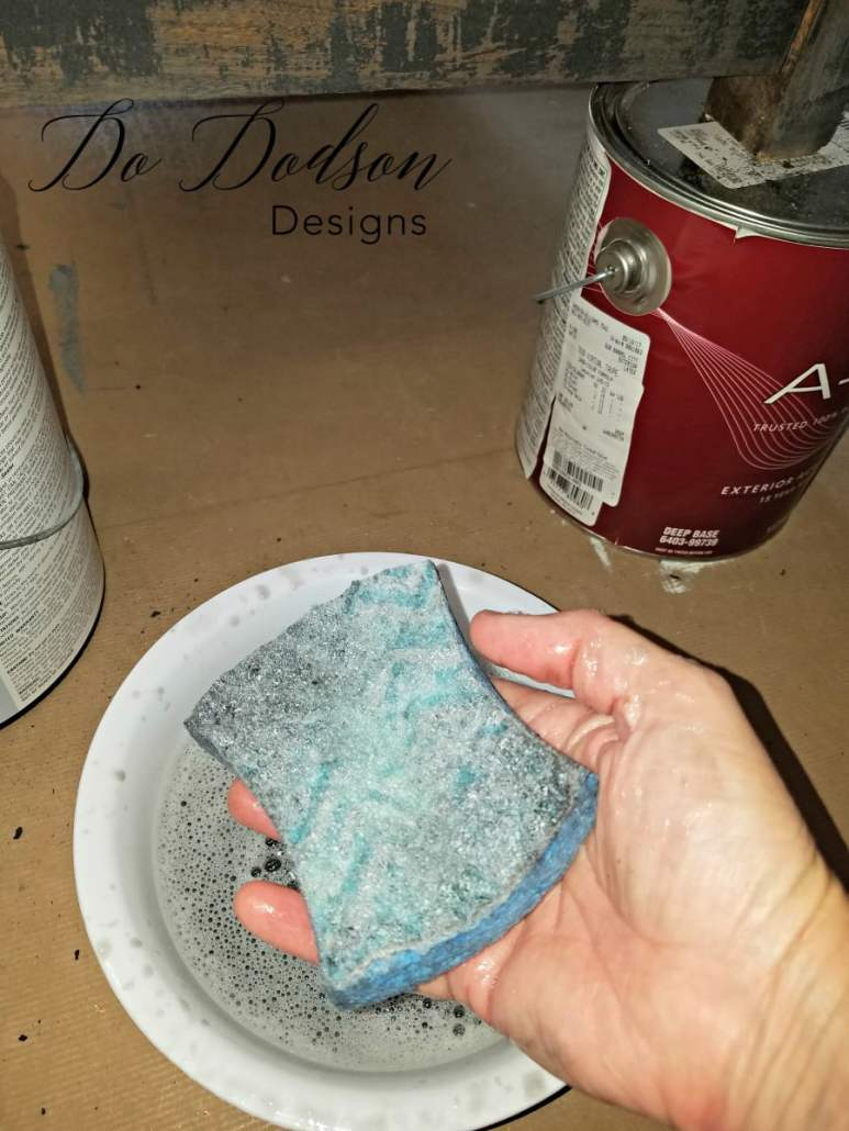 Primitive Furniture Makeover with Wise Owl Chalk Synthesis Paint can be wet distressed. Reactivated by water for creative finishes.