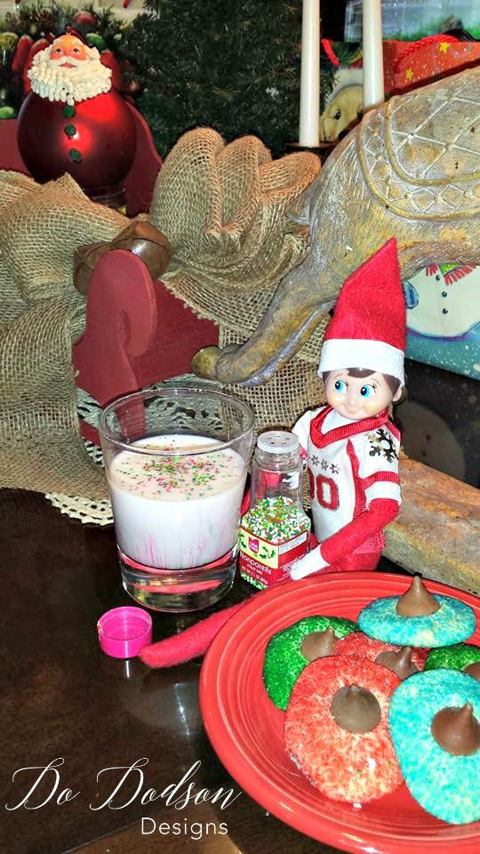 Elf on the shelf mischievious ideas sprinkles make everything better.
