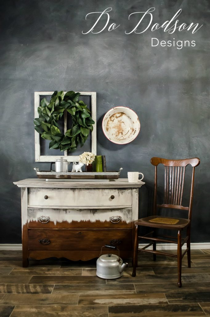 I love the way this antique dresser turned out using Wise Owl Paint.