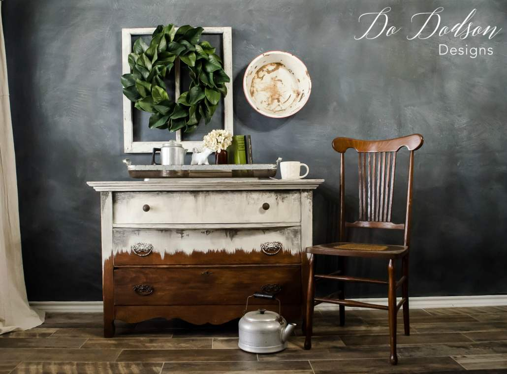 Even the ugliest antique dresser can be salvaged with Wise Owl Paint. It's the blendable paint.
