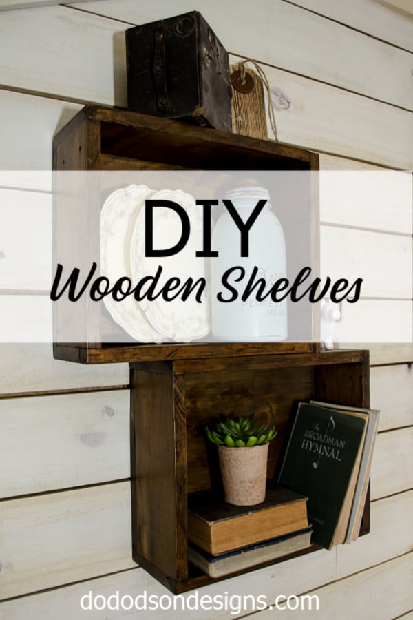 DIY wooden shelves the easy way!