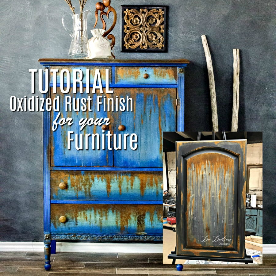 Oxidized Rust Finish for your furniture.