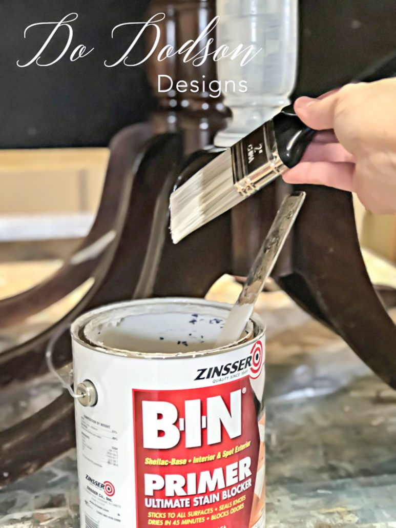 You should always primer before painting raw wood. No paint will stop bleeding of stains and tannins. BIN Primer is my favorite.