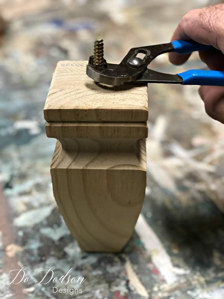 How I Made Furniture Feet With Wood Finials #furniturefeet #furniturerepair