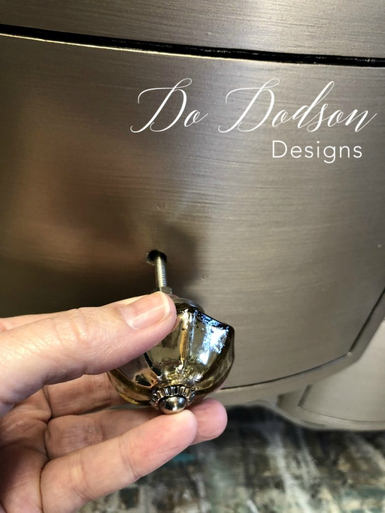 How to correct oversized holes to compensate for your Hobby Lobby knobs. #dododsondesigns #hobbylobbyknobs