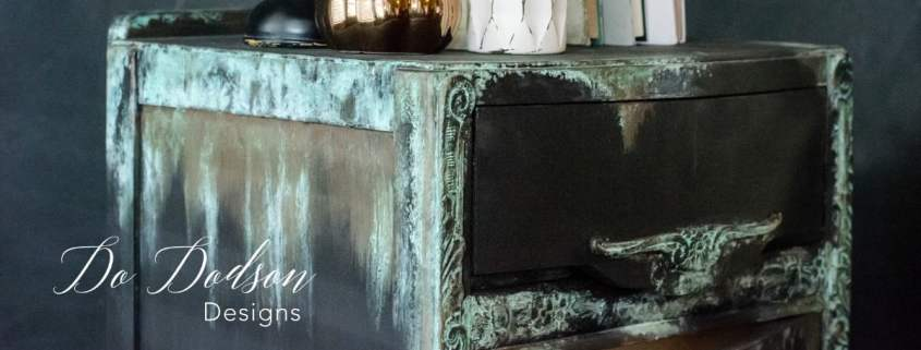 Adding copper patina is a fun way to dress up and be playful with your artistic designs.