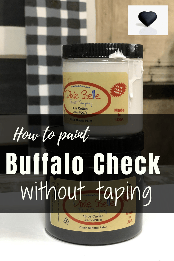 How to create an amazing buffalo check pattern without taping.