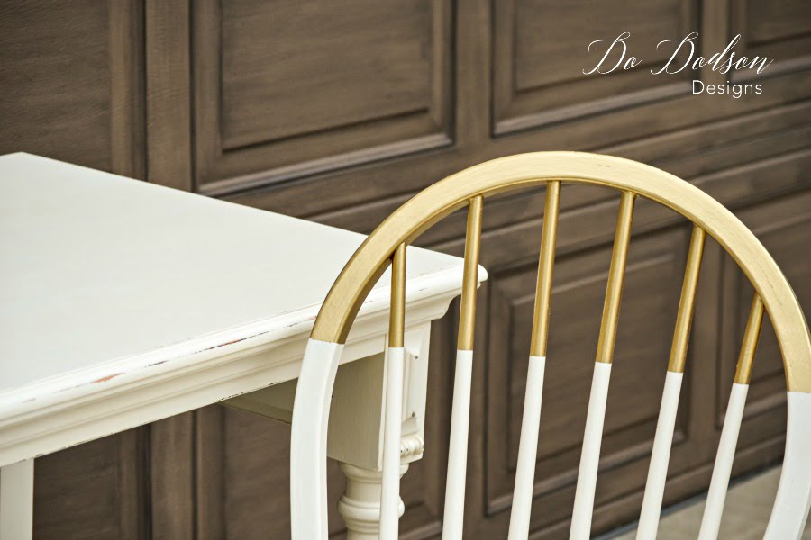 How To Paint Amazing GOLD Dipped Furniture For The Win!