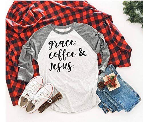 Grace Coffee & Jesus T-shirtGift Ideas For Women