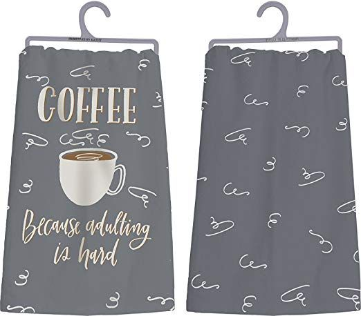 Coffee Dish Towel gift ideas for women that love all things coffee.