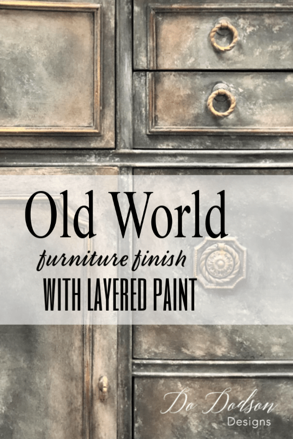 Get an Old World Finish on your furniture with layered paint and gilding wax.