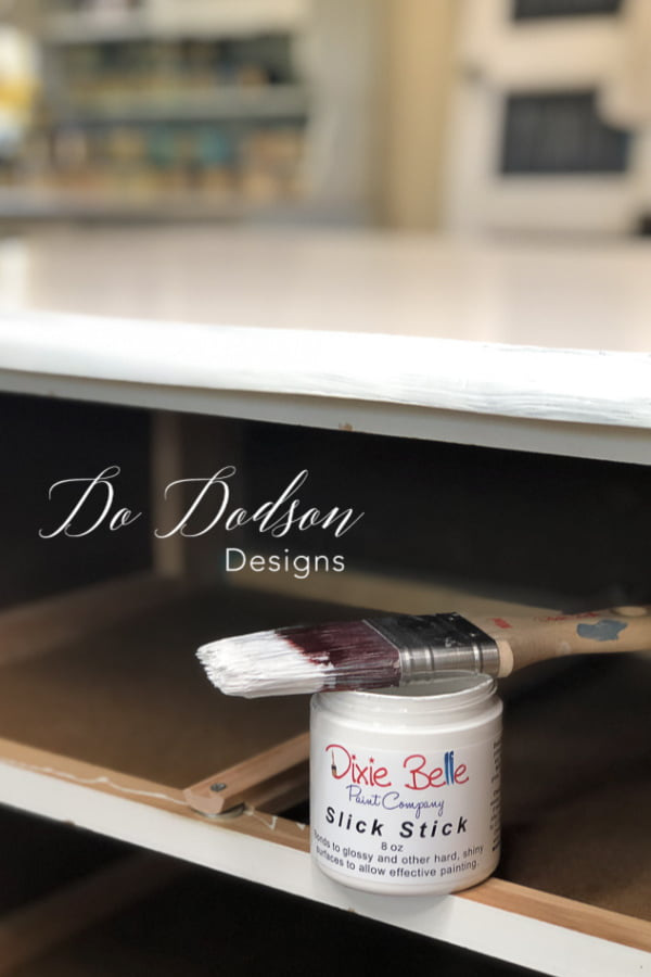 Learn how to paint laminate furniture using one of my favorite products. Slick Stick!