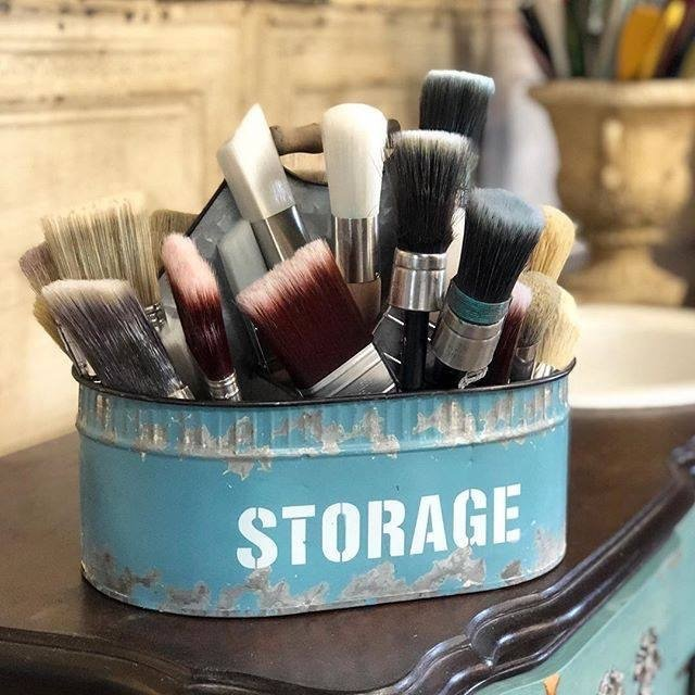 My private stash of the best paint brushes around. A girl can never have too many!