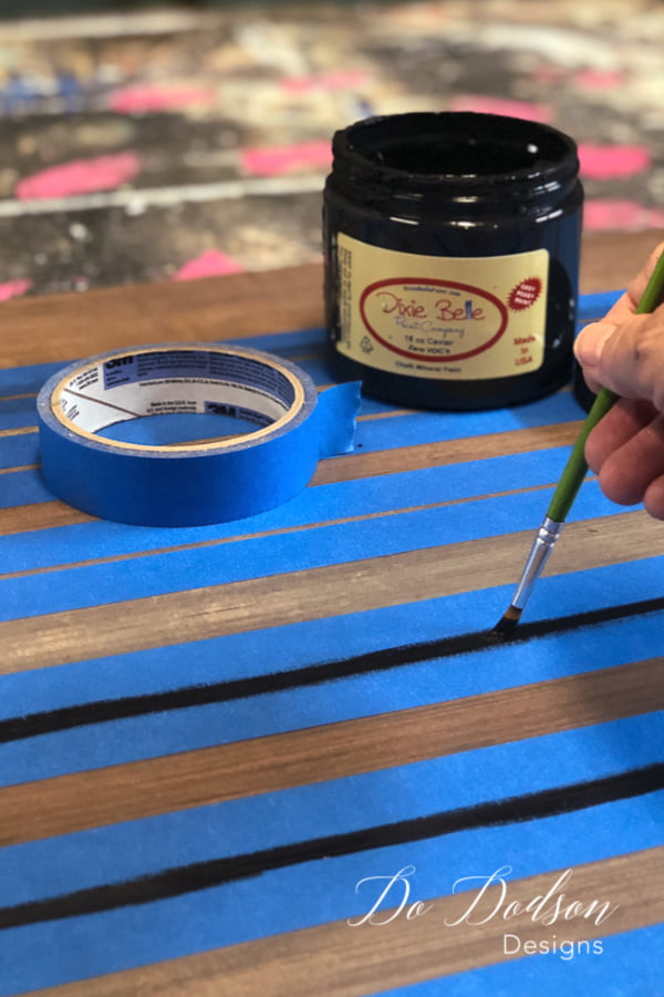 I painted crisp clean lines on the backer board that I used for my painted letters.