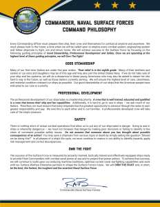 Admiral Brown's Command Philosophy
