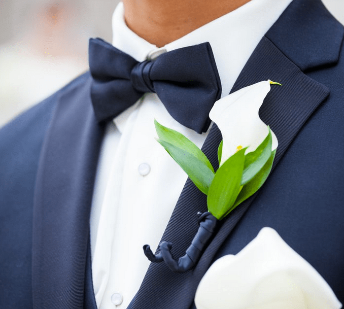Simple White Calla Lily Boutonniere
