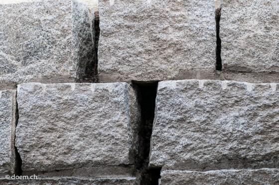 Einfache Steinmauer