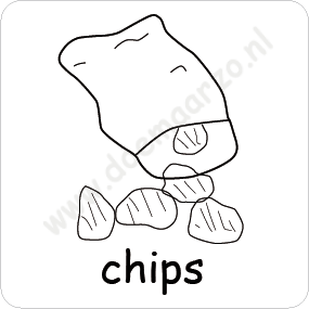 Chips pictomagneet voor 5x5 cm dagritme systeem