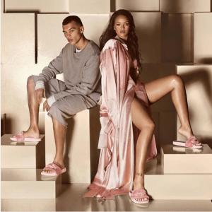 Puma Rihanna Fenty Faux Fur SlidesAthleisure