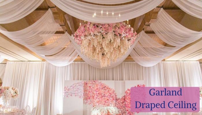 Garland-Draped Ceiling