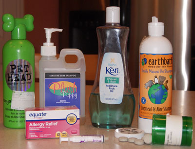 Dog allergy treatment products.
