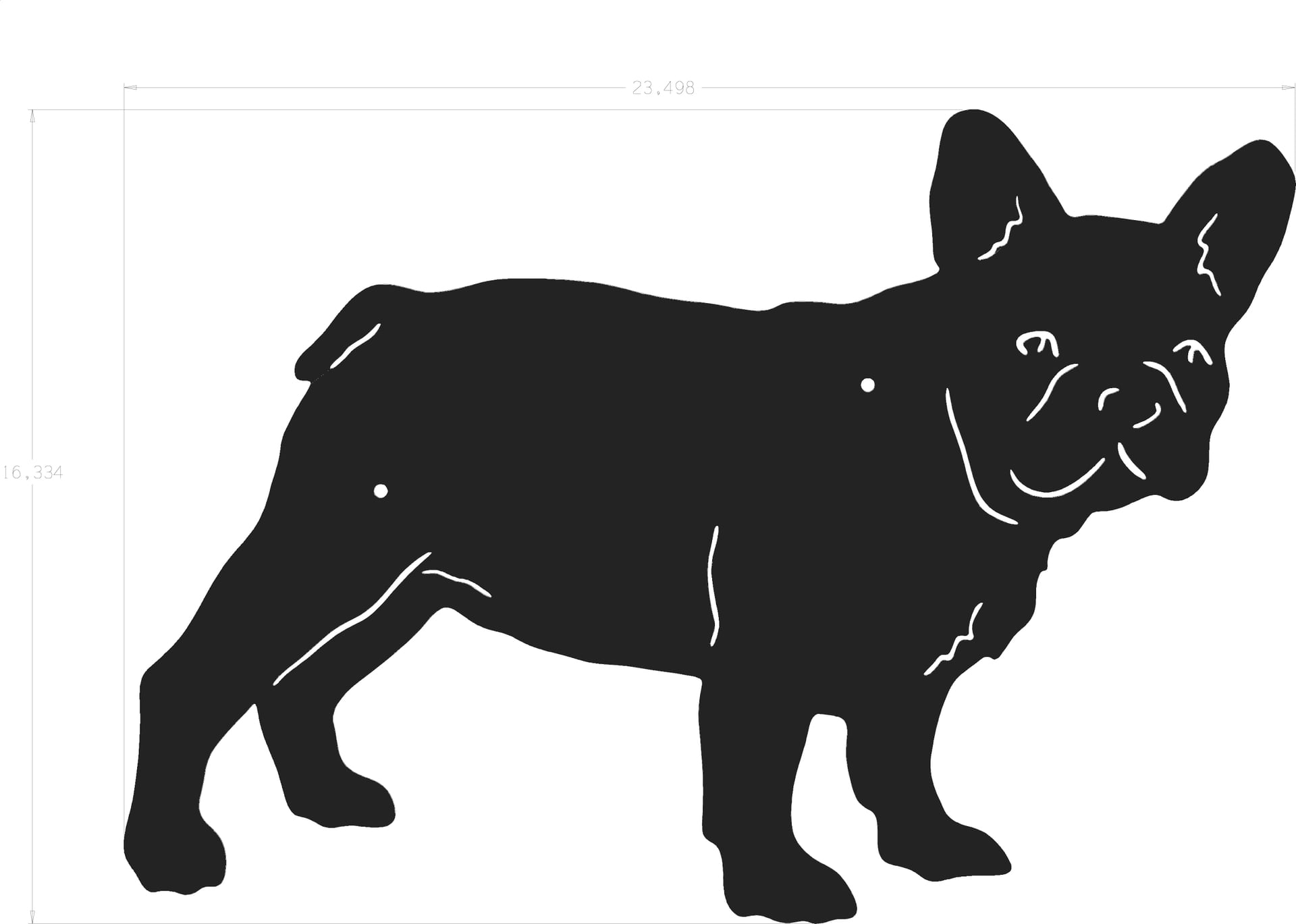 silhouette french bulldog
