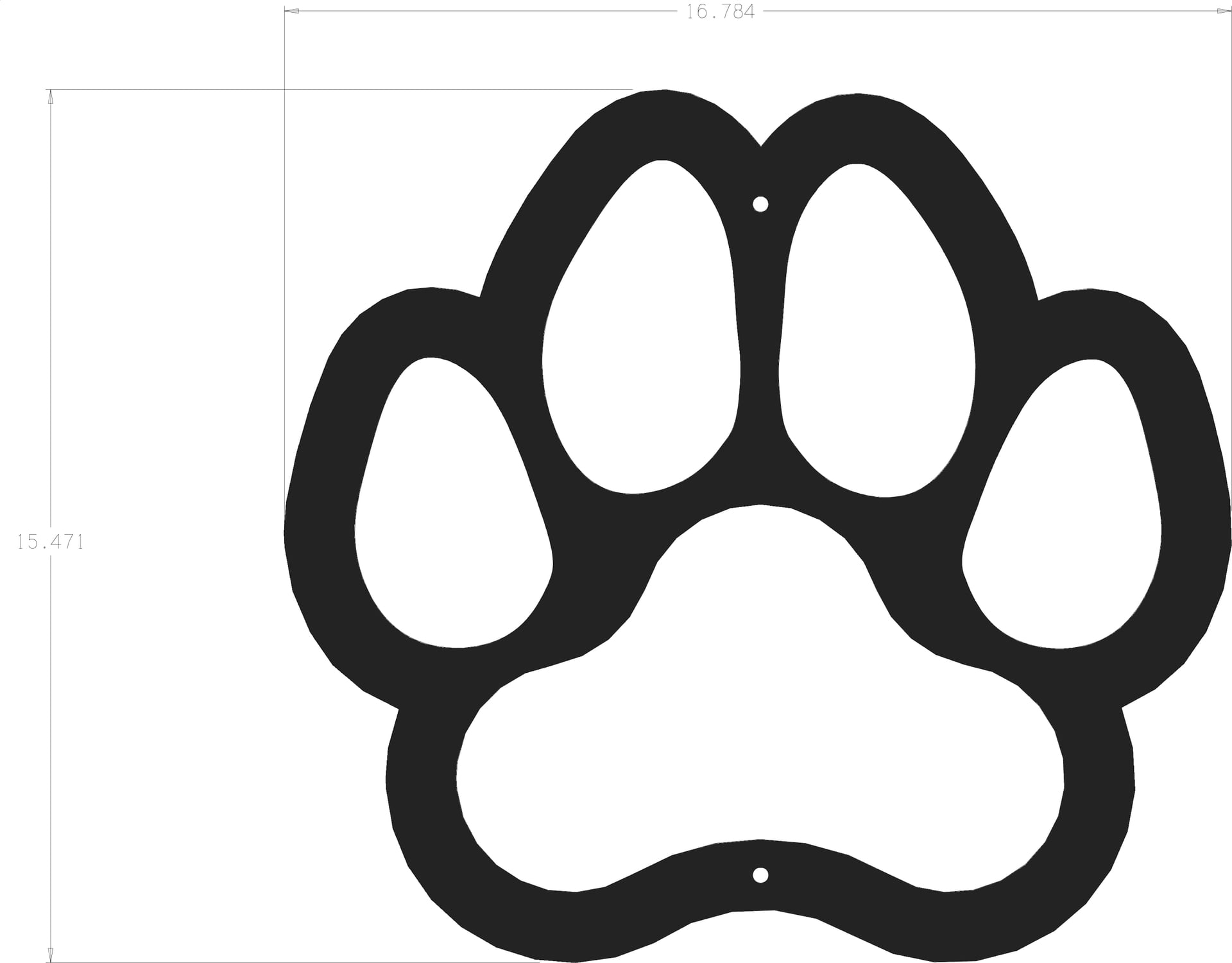 silhouette dog paw