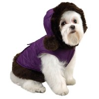 Pet Dog Puppy Winter Warm Fur Collar Coat Jacket | Dog Bazar