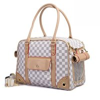 BETOP Pet Carrier Tote Around Town Pet Carrier Portable Dog Handbag Dog Purse for Outdoor Travel Walking Hiking, White, 15.75''*11.81''*7.87''