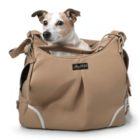 Madison Mocha Faux Leather Dog Carrier