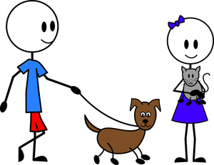 Free Walking Pets Clipart Image 0515110519025926 Dog