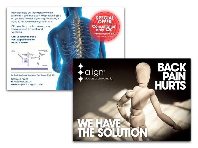 Brochures & Leaflets Align Chiropractic A5 Flyer Design