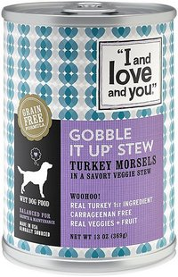 I and Love and You Gobble it Up Stew Wet Canned Grain-Free Dog Food