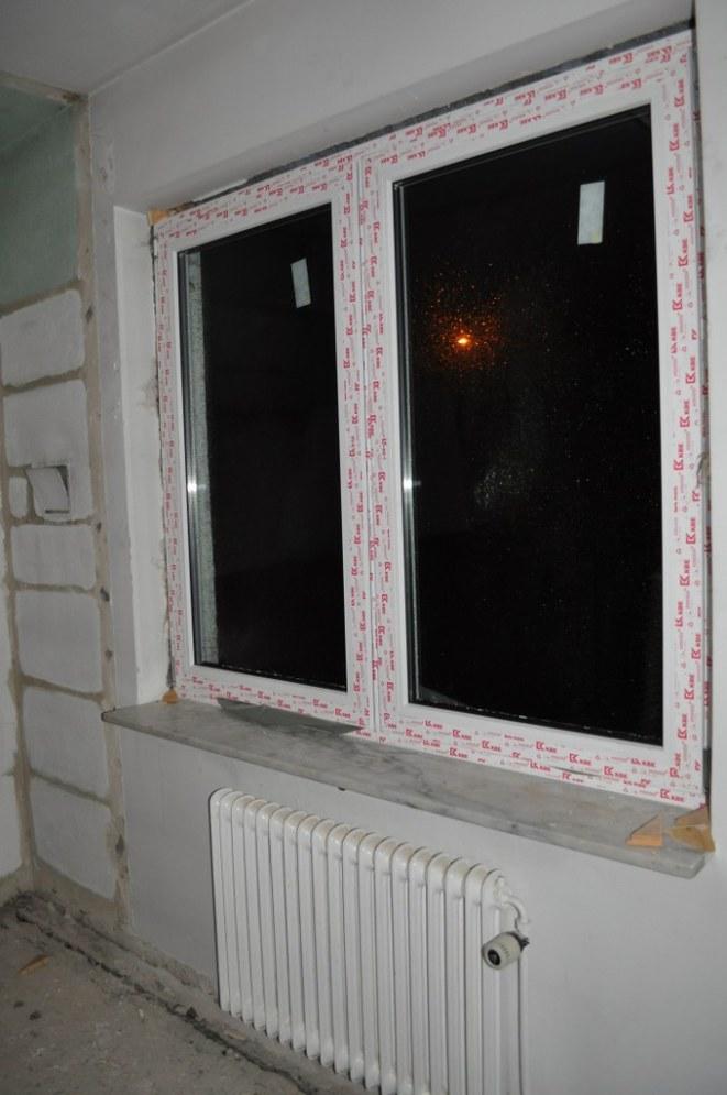 Nya fönster över hela lägenheten