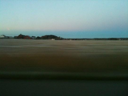 Frost så där tidigt på lördagen