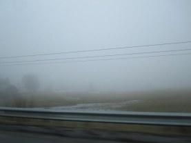 Så här dimmigt var det.