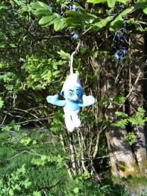 På Hallandsåsen fann husse SuicidalSmurfen i ett träd...