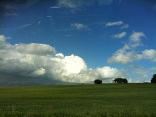 Så här såg det ut när vi åkte från Skåne.