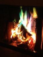 Denna färg på eld fick Joakim som hussepresent på Husses Dag.